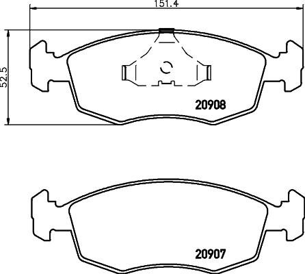 Тормозные колодки дисковые MINTEX MDB1290