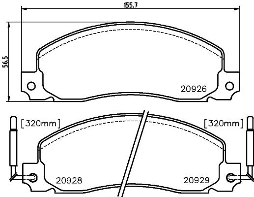 Тормозные колодки дисковые MINTEX MDB1333