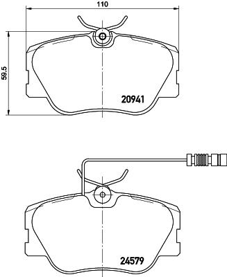 Тормозные колодки дисковые MINTEX MDB1437