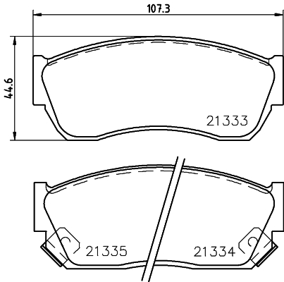 Тормозные колодки дисковые MINTEX MDB1474