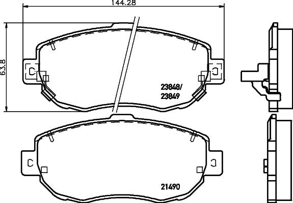Тормозные колодки дисковые MINTEX MDB1708