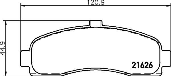 Тормозные колодки дисковые MINTEX MDB1623