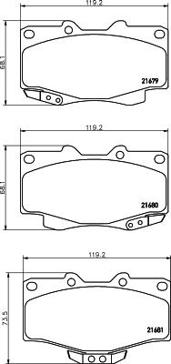 Тормозные колодки дисковые MINTEX MDB1647