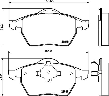 Тормозные колодки дисковые MINTEX MDB1741