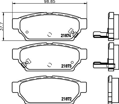 Тормозные колодки дисковые MINTEX MDB1691