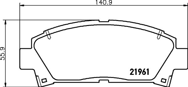 Тормозные колодки дисковые MINTEX MDB1684