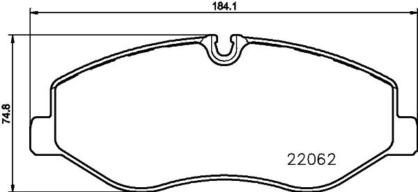 Тормозные колодки дисковые MINTEX MDB3738