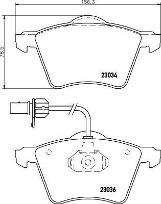 Тормозные колодки дисковые MINTEX MDB1954