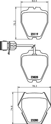 Тормозные колодки дисковые MINTEX MDB2178