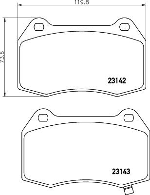 Тормозные колодки дисковые MINTEX MDB2341