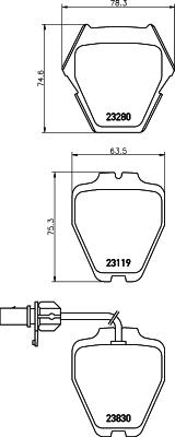 Тормозные колодки дисковые MINTEX MDB2358