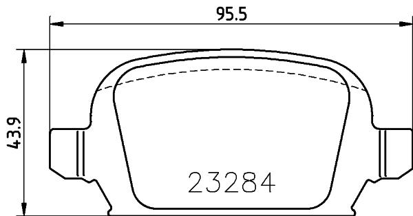 Тормозные колодки дисковые MINTEX MDB2168
