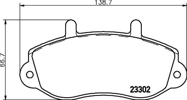 Тормозные колодки дисковые MINTEX MDB1993