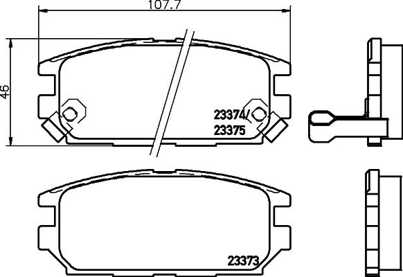 Тормозные колодки дисковые MINTEX MDB1693