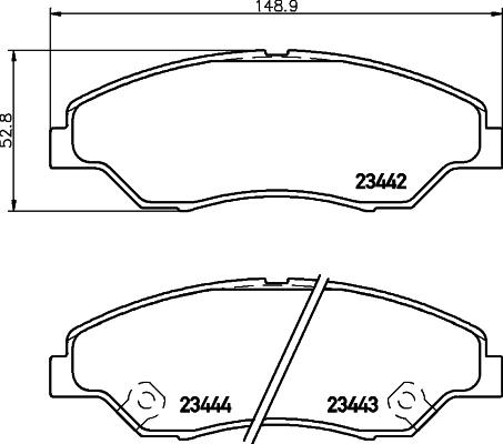 Тормозные колодки дисковые MINTEX MDB2094
