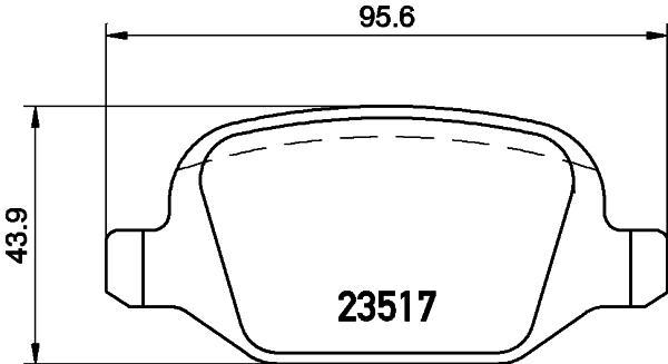 Тормозные колодки дисковые MINTEX MDB2051