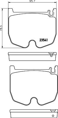 Тормозные колодки дисковые MINTEX MDB2614