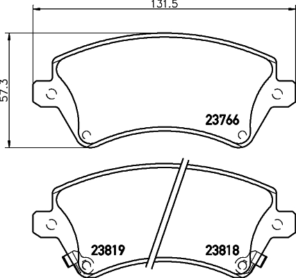 Тормозные колодки дисковые MINTEX MDB2257