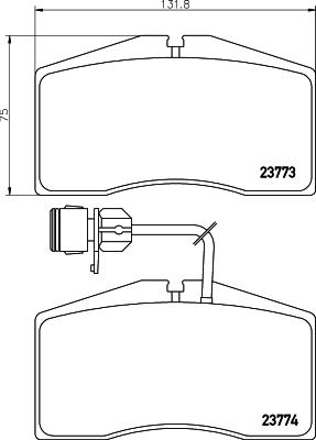 Тормозные колодки дисковые MINTEX MDB2356