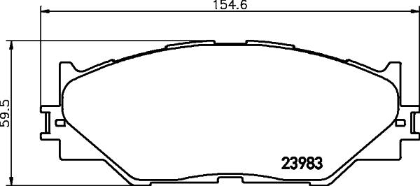 Тормозные колодки дисковые MINTEX MDB2747