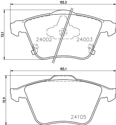 Тормозные колодки дисковые MINTEX MDB2768