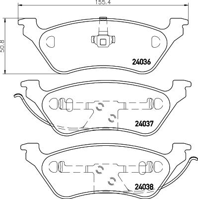 Тормозные колодки дисковые MINTEX MDB2217