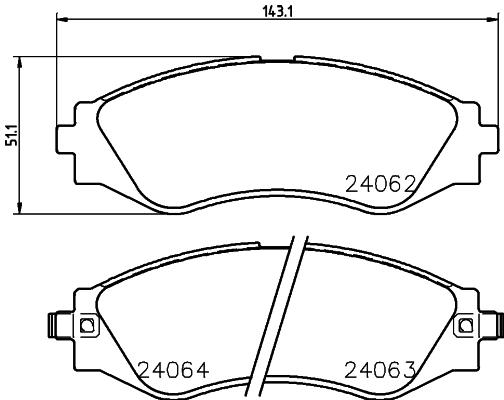 Тормозные колодки дисковые MINTEX MDB2563