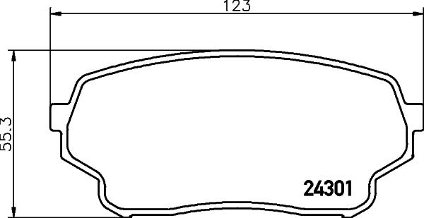Тормозные колодки дисковые MINTEX MDB2780