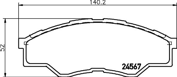 Тормозные колодки дисковые MINTEX MDB2915
