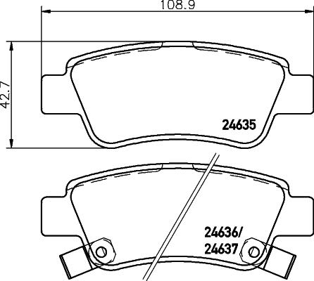 Тормозные колодки дисковые MINTEX MDB2926