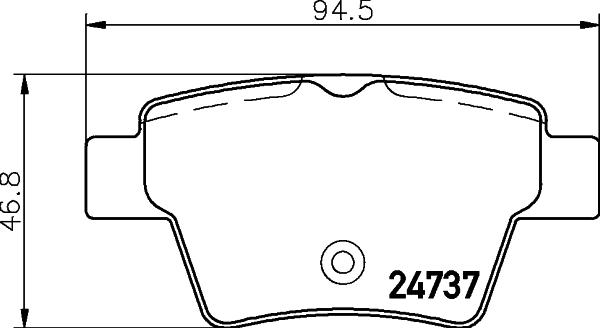 Тормозные колодки дисковые MINTEX MDB2951