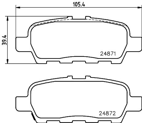 Тормозные колодки дисковые MINTEX MDB3026