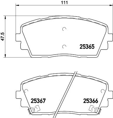 Тормозные колодки дисковые MINTEX MDB3297