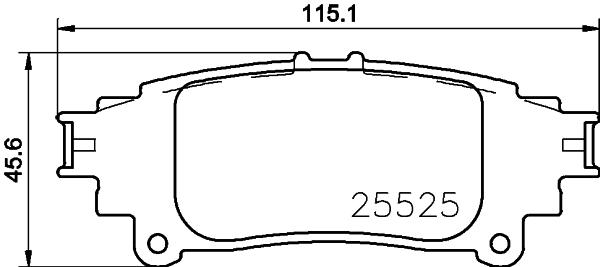 Тормозные колодки дисковые MINTEX MDB3720