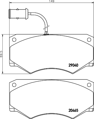 Тормозные колодки дисковые MINTEX MDB1730