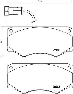 Тормозные колодки дисковые MINTEX MDB2640