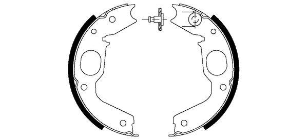 Колодки тормозные барабанные MINTEX MFR489