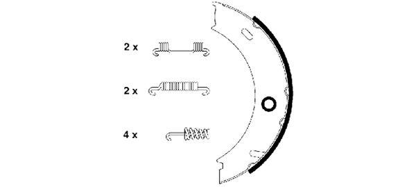Колодки тормозные барабанные MINTEX MFR498