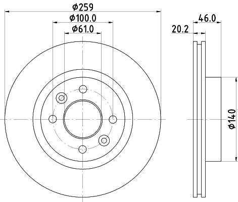Тормозной диск MINTEX MDC366
