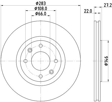 Тормозной диск MINTEX MDC814