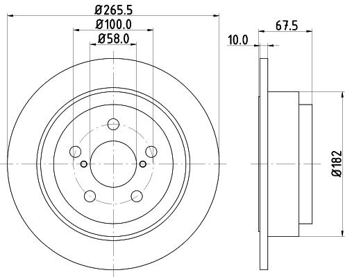 Тормозной диск MINTEX MDC801