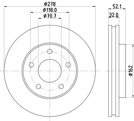 Тормозной диск MINTEX MDC1071