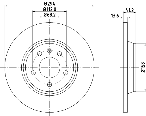Тормозной диск MINTEX MDC1436