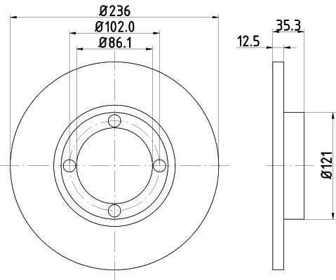 Тормозной диск MINTEX MDC1459