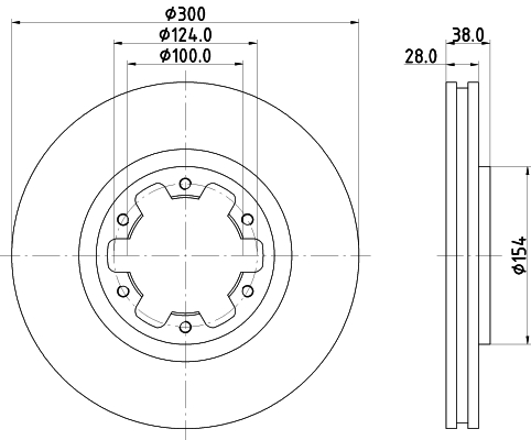Тормозной диск MINTEX MDC1754