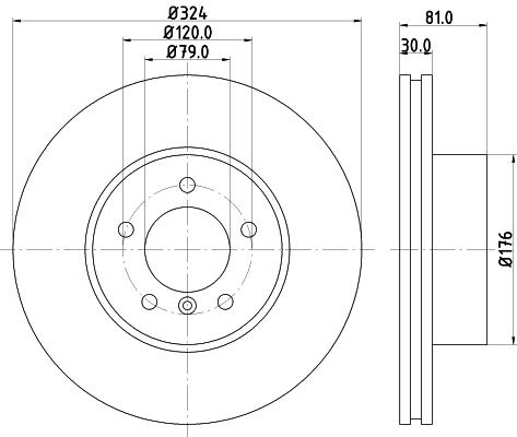 Тормозной диск MINTEX MDC1795