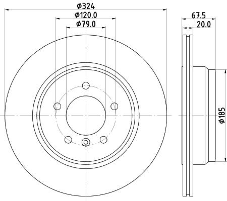 Тормозной диск MINTEX MDC1796
