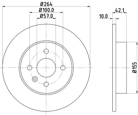 Тормозной диск MINTEX MDC1791