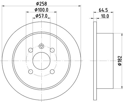 Тормозной диск MINTEX MDC1389