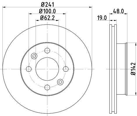 Тормозной диск MINTEX MDC1748